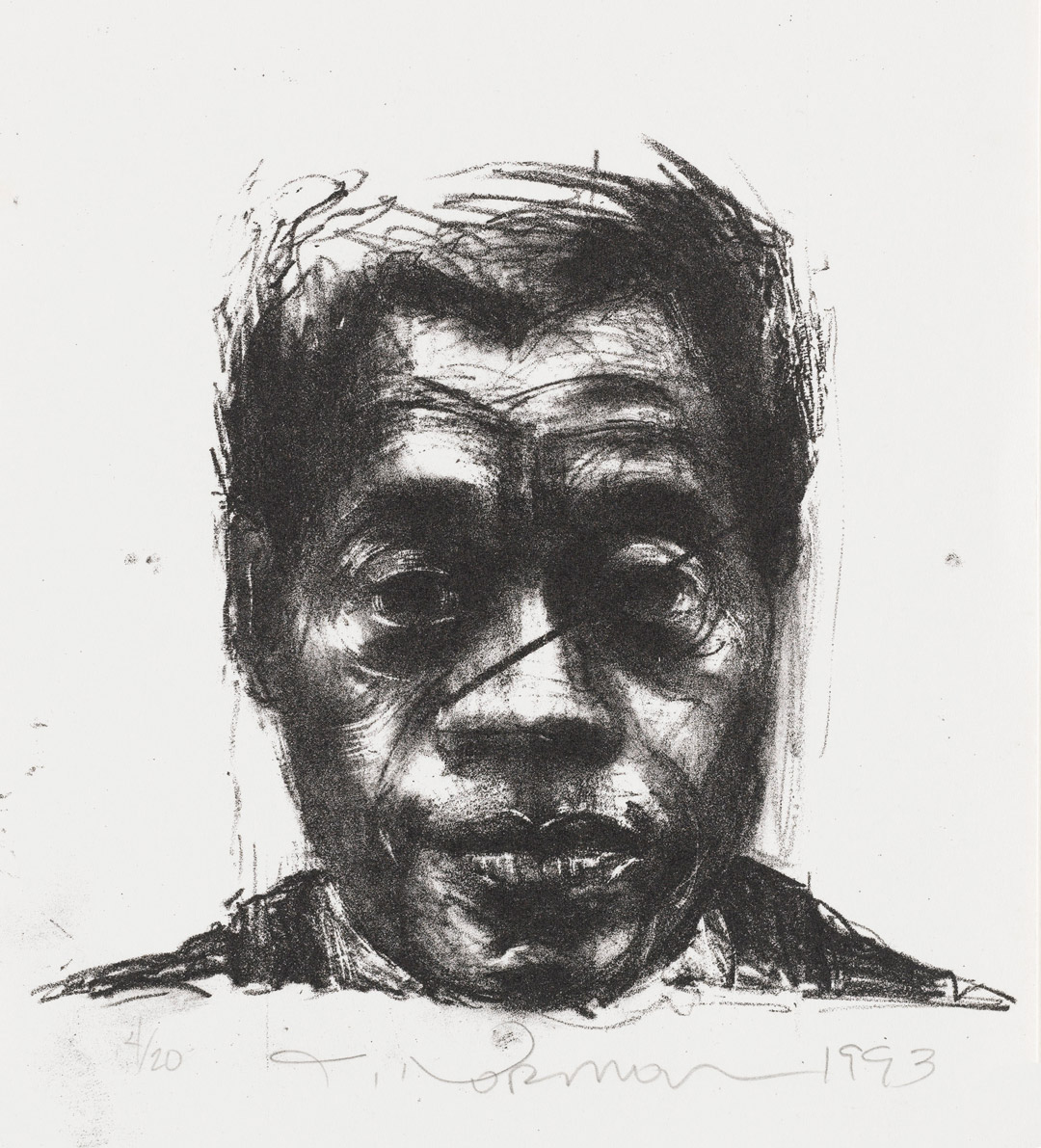 James Baldwin by Joseph Norman