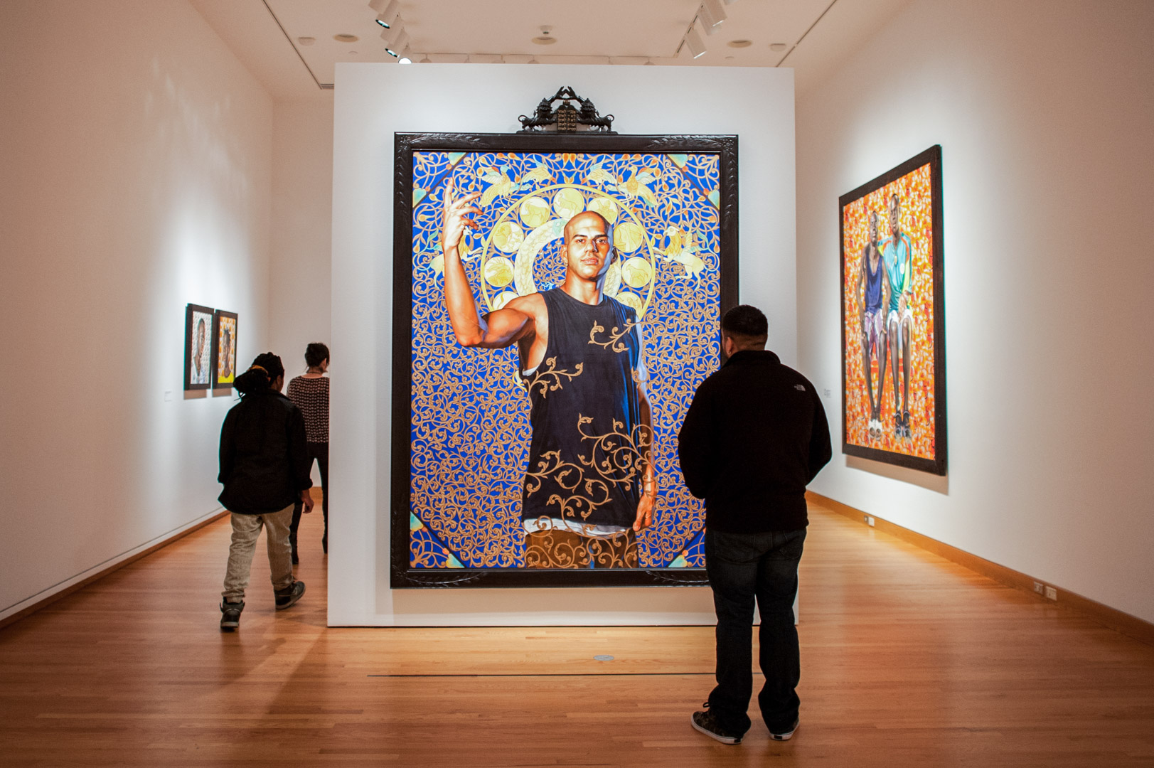 Installation view of Kehinde Wiley: A New Republic