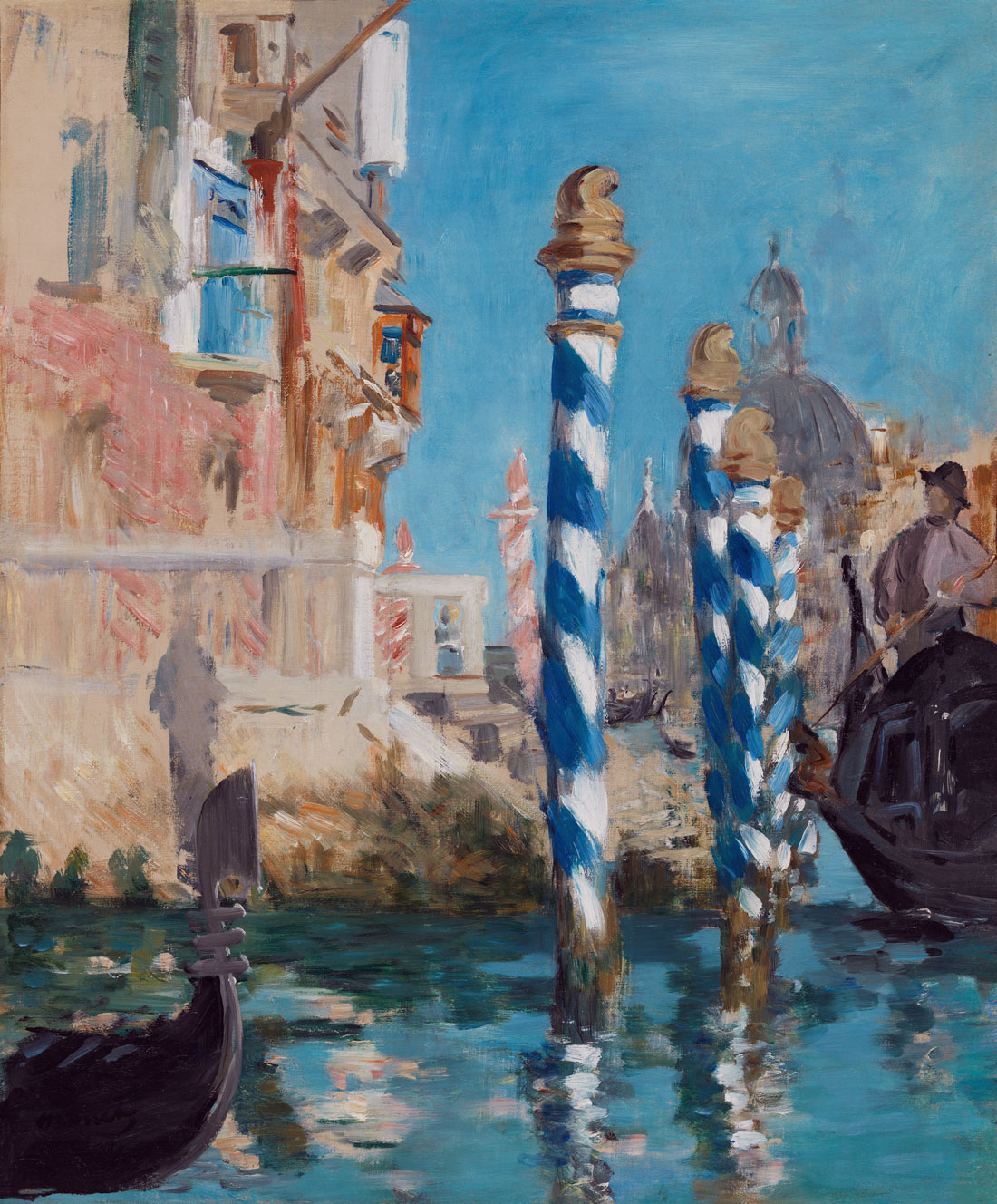 View in Venice–The Grand Canal, Edouard Manet, 1874.