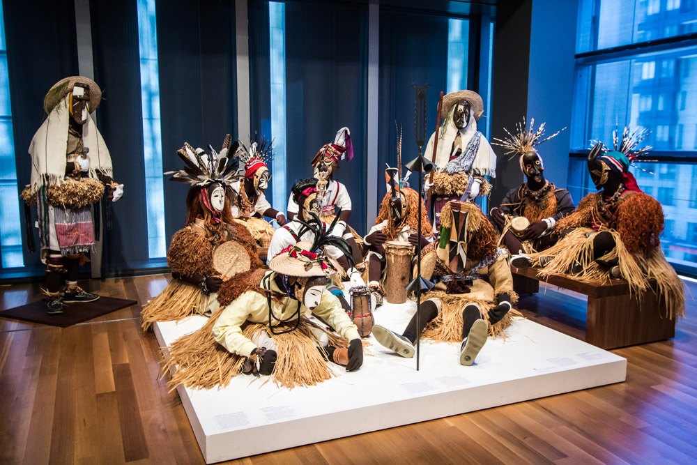 African Masquerade Installation at Seattle Art Museum