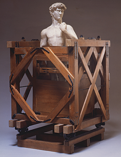 Model of Michelangelo's David, Unknown, wood and gesso, 5 x 34 in., Courtesy Fondazione Buonarroti