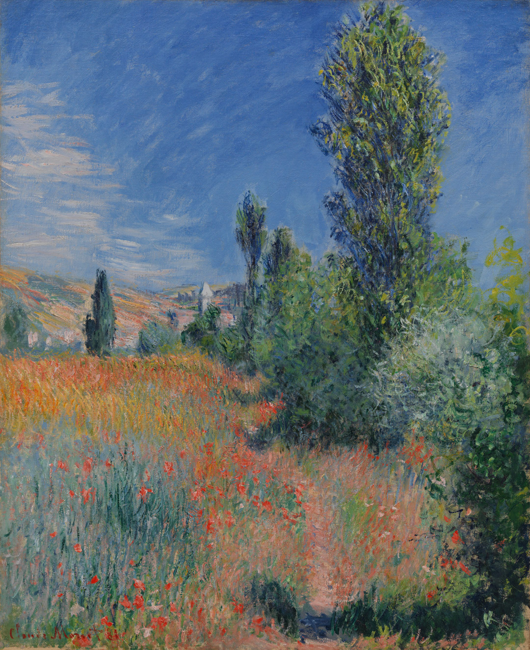 Landscape on île Saint-Martin, Claude Monet, 1881.