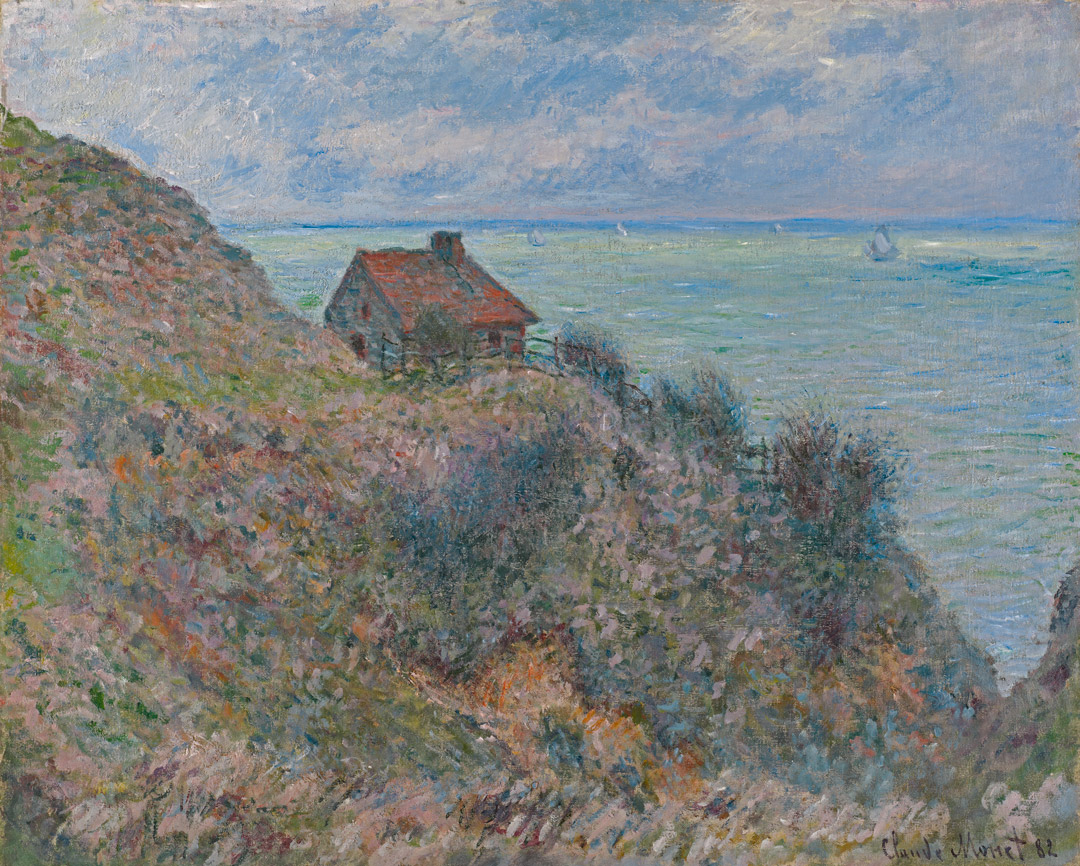 The Fisherman's House, Overcast Weather, Claude Monet, 1882.