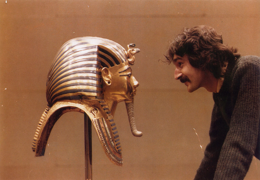 "An installation photo from the 1978 exhibition ""Tut"""