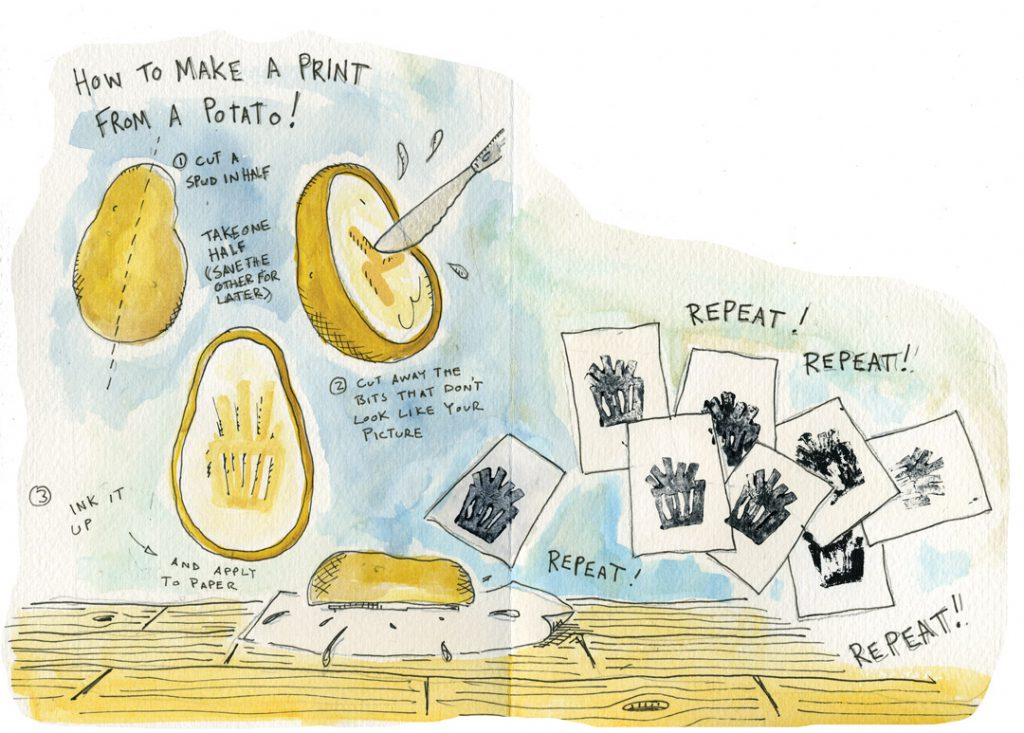How to make a Potato Print!