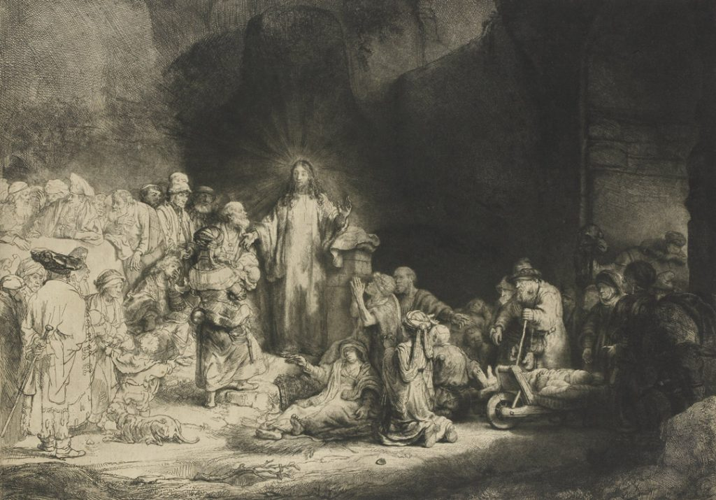 Christ Healing the Sick (The Hundred Guilder Print) by Rembrandt van Rijn
