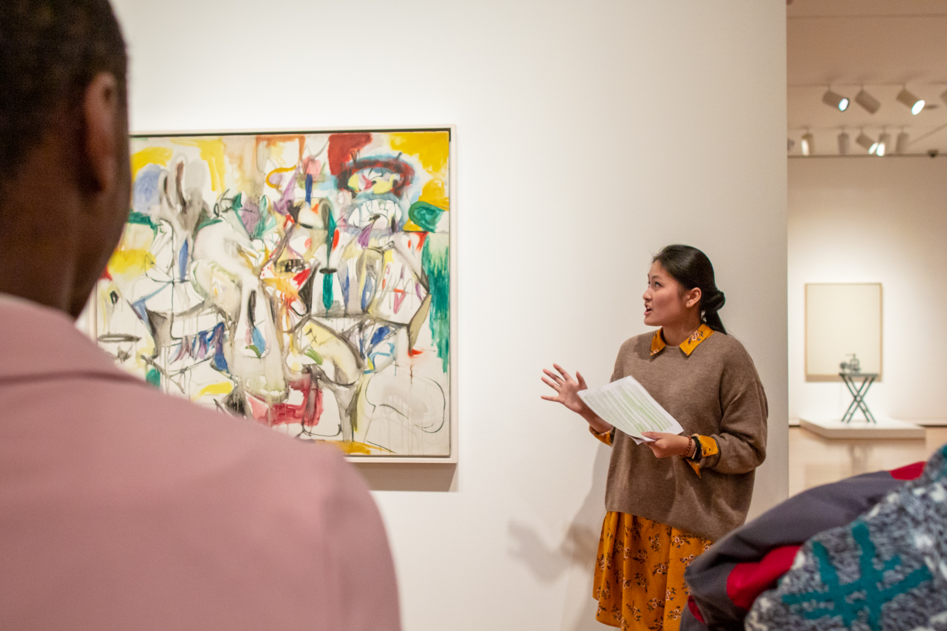 Trang speaking on a tour of the Modern and Contemporary galleries at Seattle Art Museum