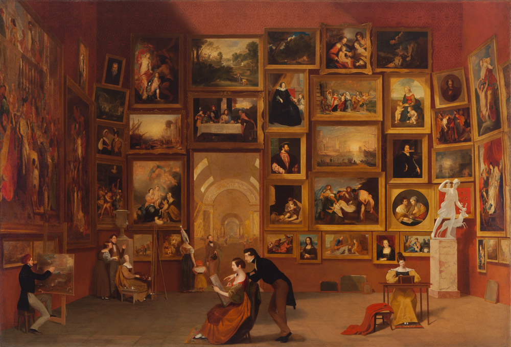 Gallery of the Louvre by Samuel F. B. Morse
