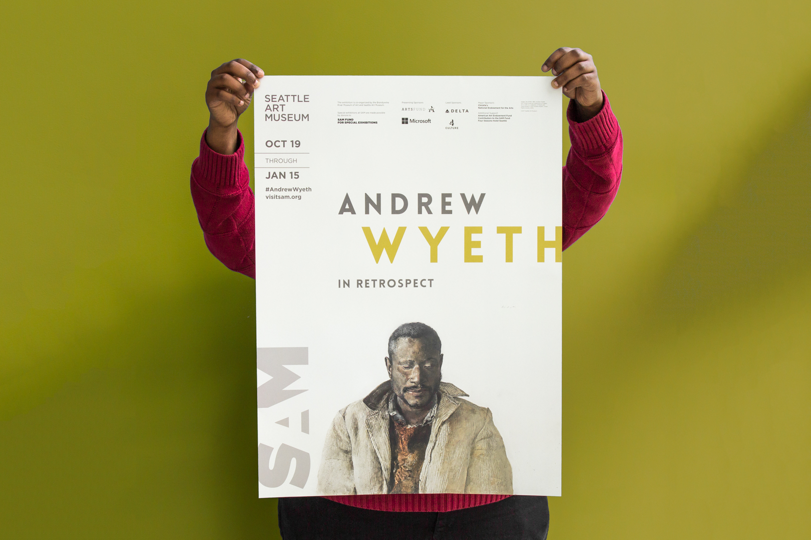 "Poster for ""Andrew Wyeth: In Retrospect"""