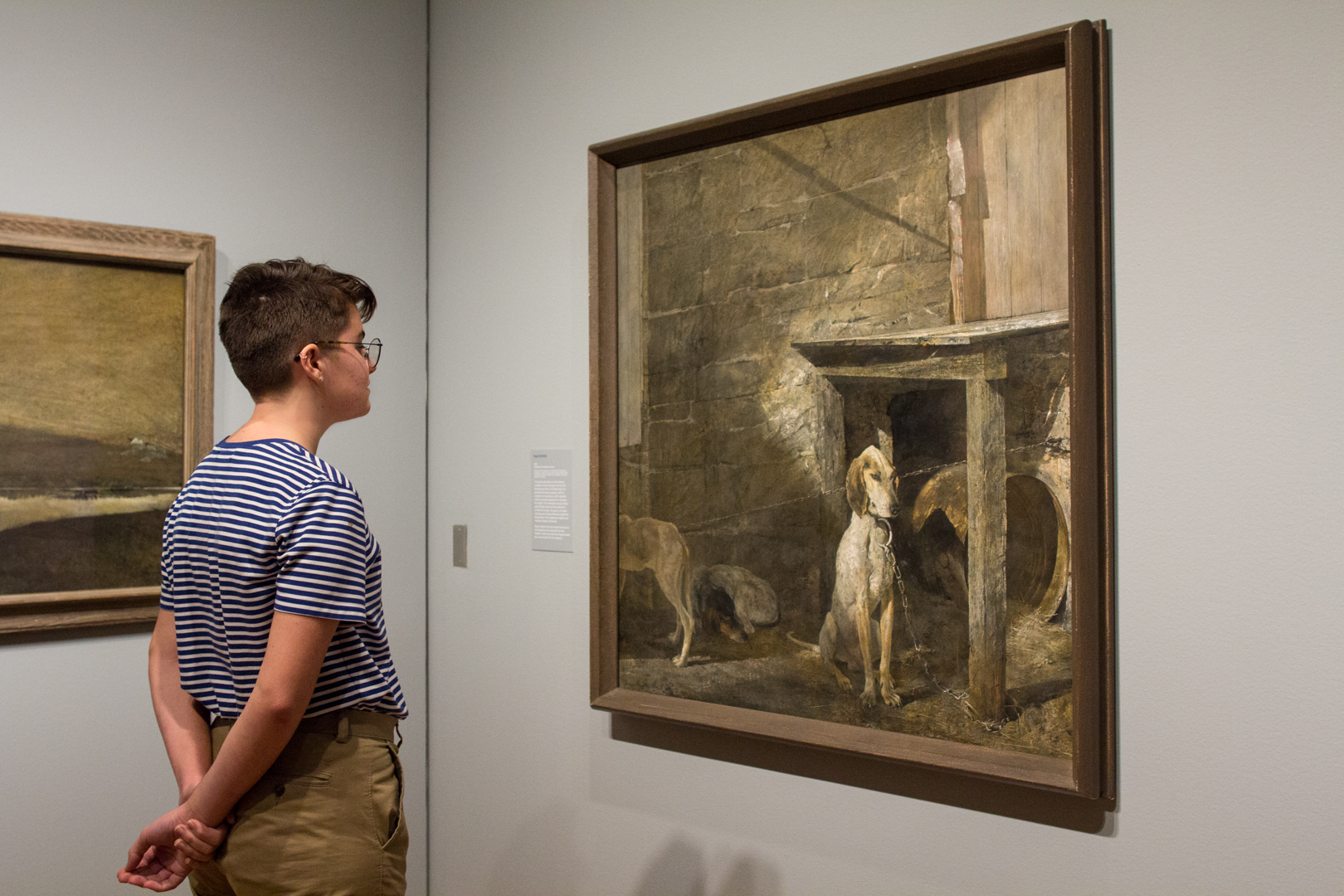 Installation view of Andrew Wyeth in Retrospect at Seattle Art Museum